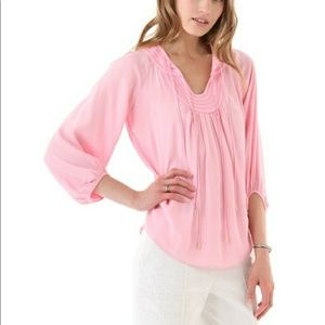DVF Acquilina Pink Crepe Blouse